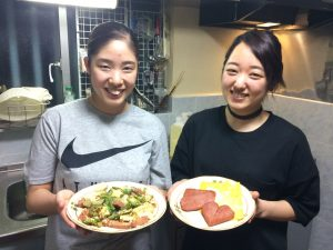 Cooking lesson of Okinawa local food