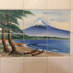 Mt. Fuji painting tile