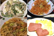 夕食の沖縄料理体験